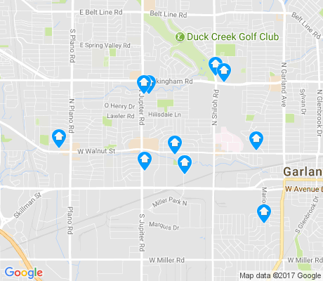 map of 75042 apartments for rent