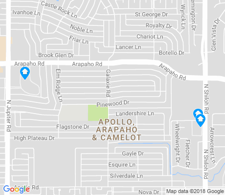 map of Apollo apartments for rent
