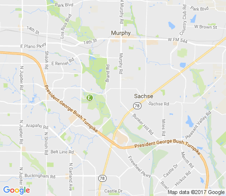 map of Greens apartments for rent