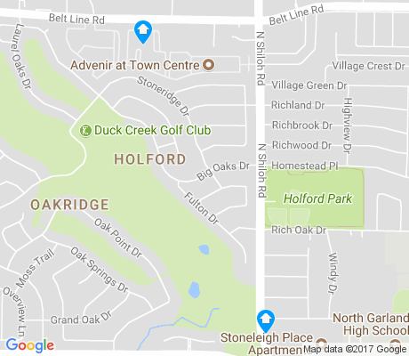 map of Oakridge apartments for rent
