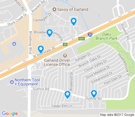 map of Oaks apartments for rent