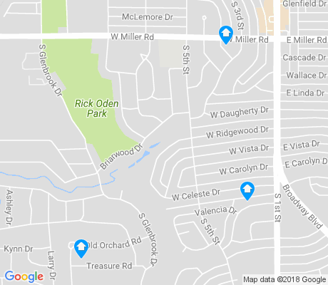 map of Ridgewood apartments for rent