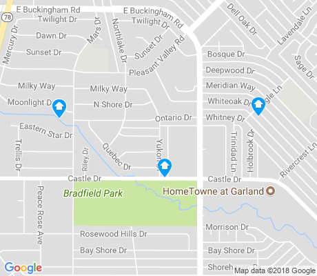 map of Star Crest apartments for rent