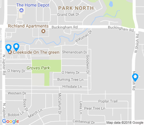 map of Western Heights apartments for rent