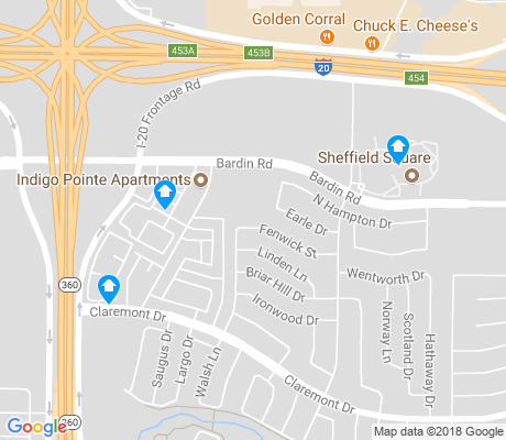 map of Sheffield Village apartments for rent