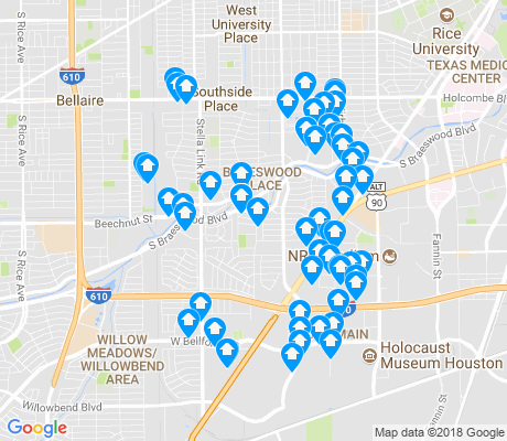 map of 77025 apartments for rent