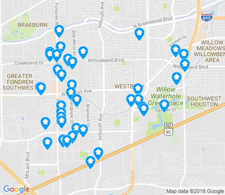 map of 77035 apartments for rent
