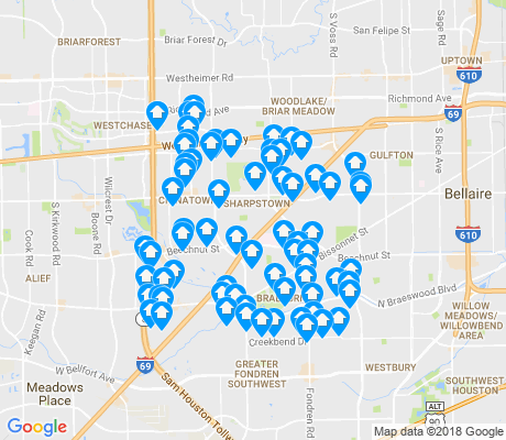 map of 77036 apartments for rent