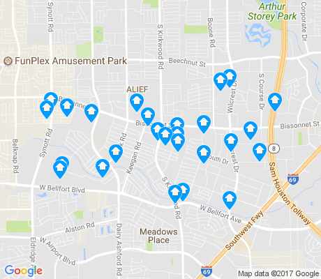 map of 77099 apartments for rent