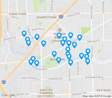 map of Braeburn apartments for rent