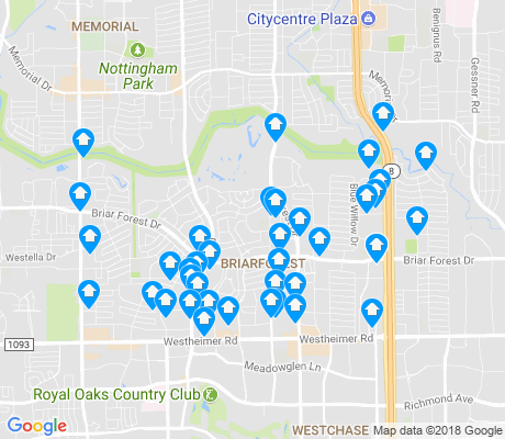 map of Briarforest apartments for rent