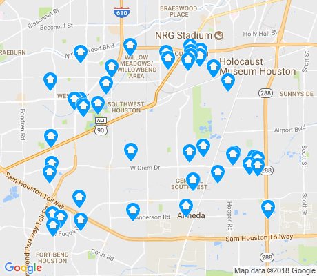 map of Central Southwest apartments for rent