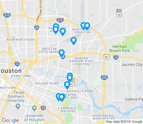 map of Denver Harbor - Port Houston apartments for rent