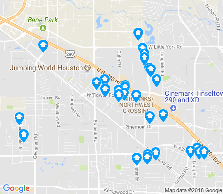 map of Fairbanks - Northwest Crossing apartments for rent