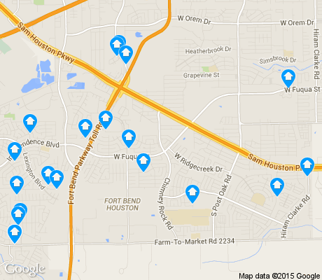 map of Fort Bend / Houston apartments for rent