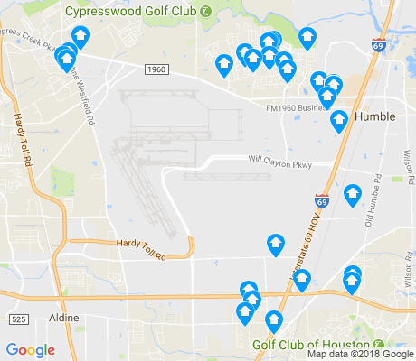 map of George Bush Intercontinental Airport apartments for rent