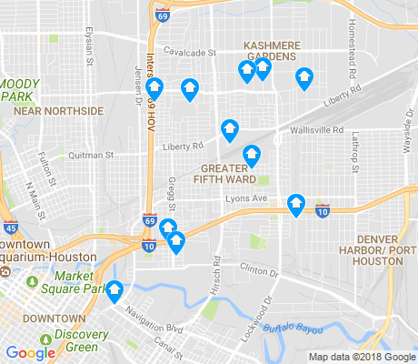 5th Ward Houston Map Greater Fifth Ward Houston Apartments for Rent and Rentals   Walk