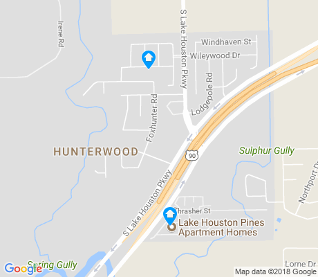 map of Hunterwood apartments for rent