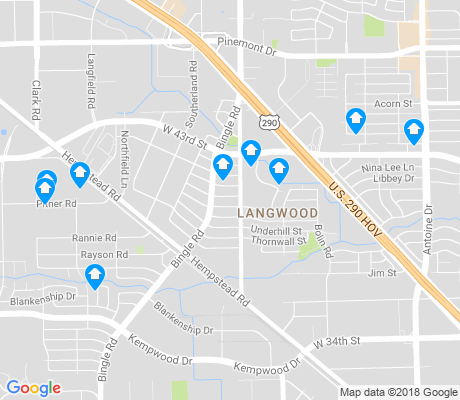 map of Langwood apartments for rent