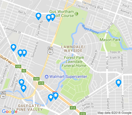 map of Lawndale - Wayside apartments for rent