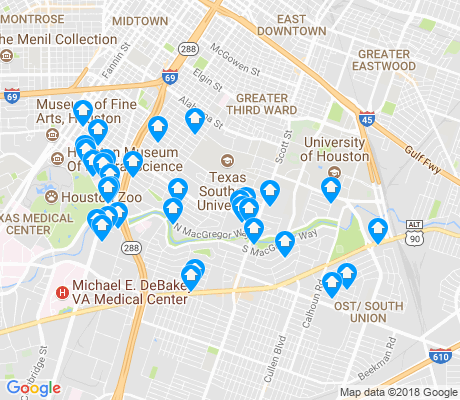 map of MacGregor apartments for rent