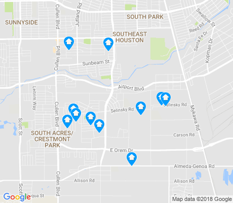 map of Minnetex apartments for rent