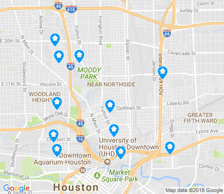 map of Northside Village apartments for rent
