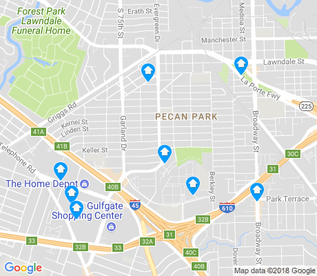 map of Pecan Park apartments for rent