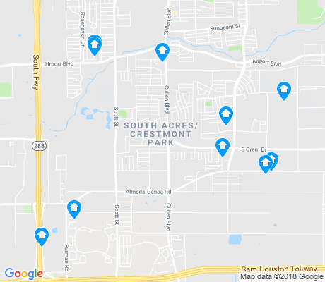 map of South Acres - Crestmont Park apartments for rent