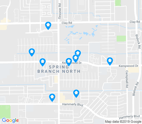 map of Spring Shadows apartments for rent