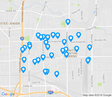 map of Trinity - Houston Gardens apartments for rent