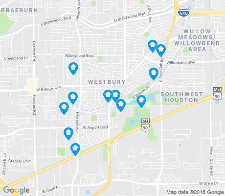 map of Westbury apartments for rent