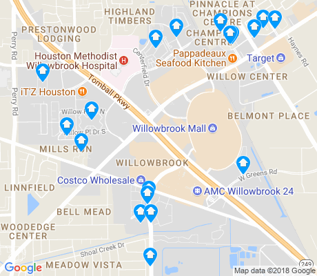 map of Willowbrook apartments for rent