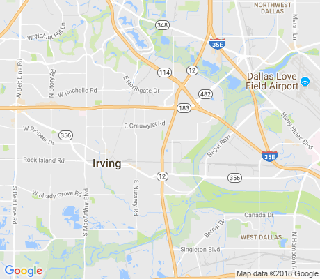 map of Irving Heights apartments for rent