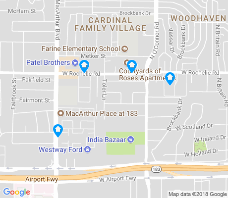 map of Nichols Park apartments for rent