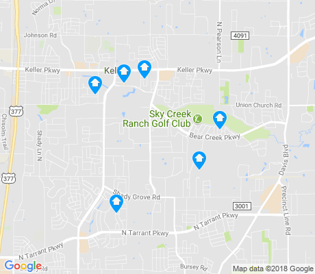 map of Keller apartments for rent