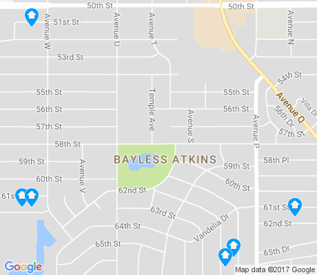 map of Bayless Atkins apartments for rent