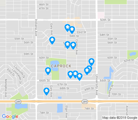 map of Caprock apartments for rent