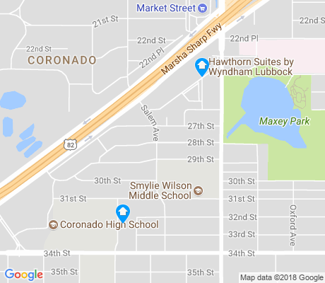 map of Coronado Area apartments for rent