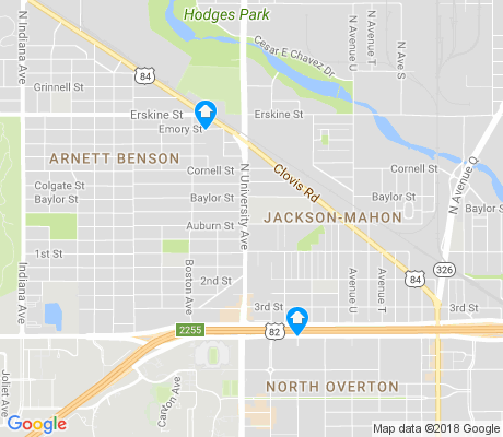 map of Jackson-Mahon apartments for rent