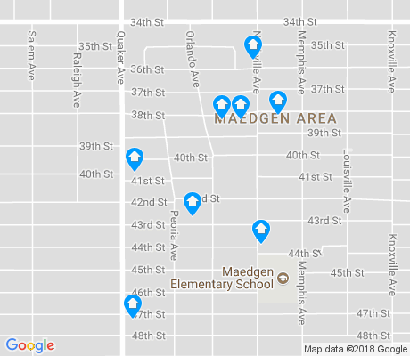 map of Maedgen Area apartments for rent