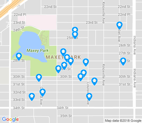 map of Maxey Park apartments for rent