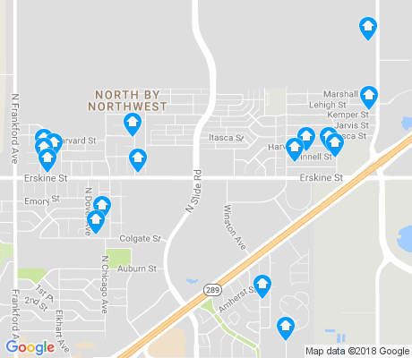 map of North by Northwest apartments for rent