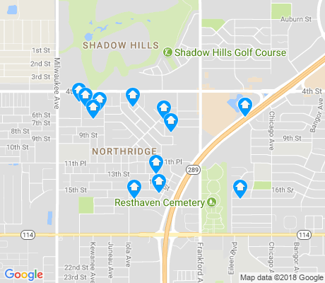 map of Northridge apartments for rent