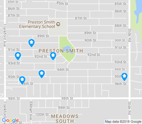 map of Preston Smith apartments for rent