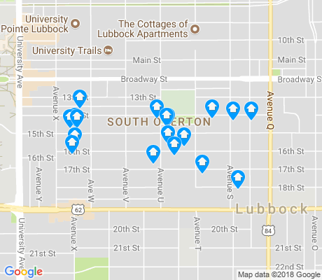 map of South Overton apartments for rent