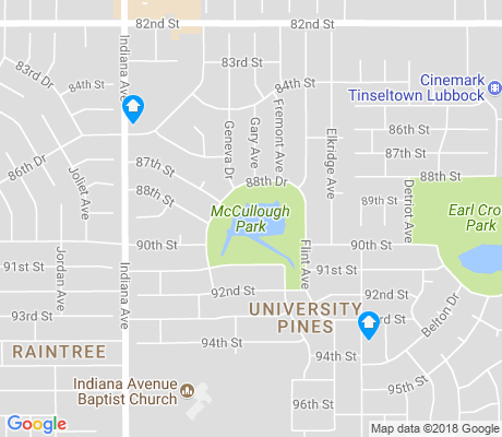 map of University Pines apartments for rent