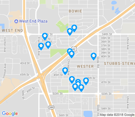 map of Wester apartments for rent