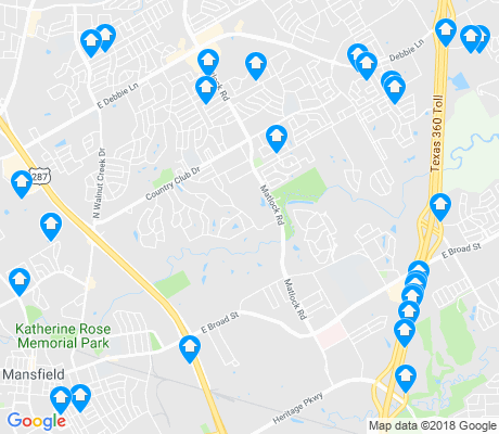 map of Mansfield apartments for rent
