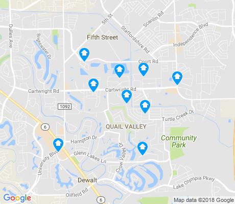 map of Missouri City apartments for rent
